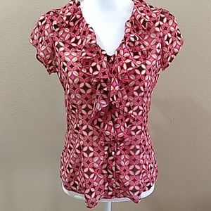 Banana republic flowy lightweight blouse Small